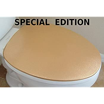 gold toilet seat cover. Special Shiny Edition of Cover for a lid toilet  New concept HandMade in USA Amazon com Lid seat fits on standard