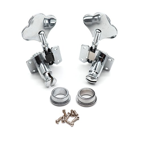Bass Machine Heads - Timiy 2pcs 1 Right 1 Left Vintage Open Bass Tuners Machine Heads Tuning Pegs for Electric Acoustic Guitar Parts Replacement