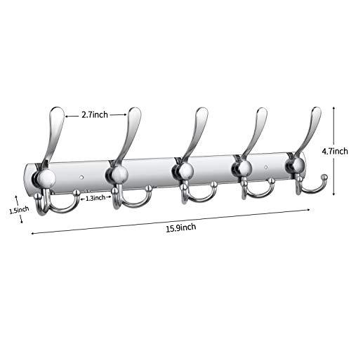 Buy wall mount coat hooks 2 pack
