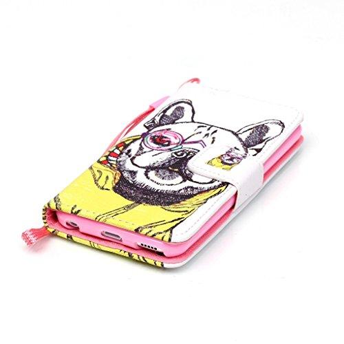 Trumpshop Smartphone Carcasa Funda Protección para Apple iPod Touch 5 (5th Gen) / iPod Touch 6 (6th Gen) + Hadas + PU Cuero Caja Protector con Choque Absorción Dogo lindo