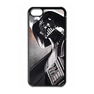Durable Hard cover Customized TPU case Darth Vader is Coming iPhone 5c Cell Phone Case Black
