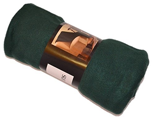 Ultra soft Cozy plush fleece Throw Blanket - Hunter Green
