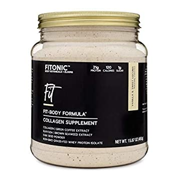 FiTONIC Fit Vanilla and Lucuma Collagen Protein Powder | Best Tasting Whey Protein Powder For Women