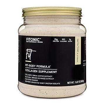 FiTONIC Fit Vanilla and Lucuma Collagen Protein Powder | Best Tasting Whey Protein Powder For Women