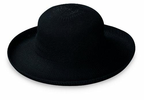 Wallaroo Hat Company Women's Victoria Sun Hat - Black - Ultra-Lightweight, Packable, Modern Style, Designed in Australia. - Mountain Dog Tie