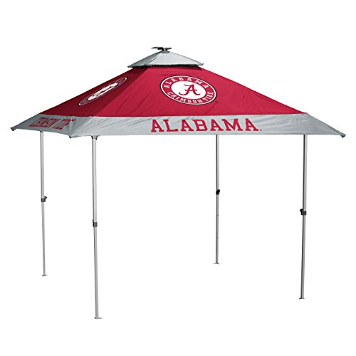 Logo Brands NCAA Alabama Crimson Tide Unisex Pagoda Tent, Cardinal, One - Crimson Alabama Tide Tent