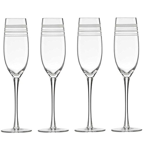 Kate Spade New York Library Stripe Toasting Flutes Set Of 4 Champagne Wedding