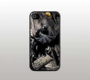 Batman Dark Knight - Case for Apple iPhone 4 4s - Black Plastic - Custom Covers - Comic