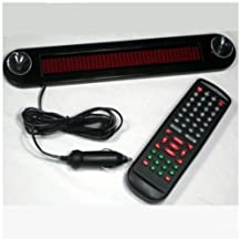 Car 12V Red LED Message Sign Programmable Moving Scrolling Board Remote Control