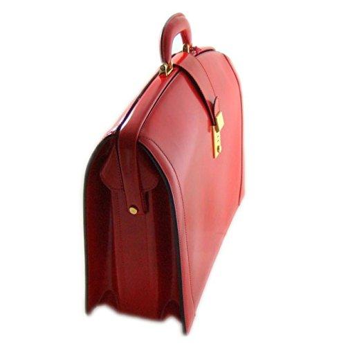 Pratesi Brunelleschi italienischem Leder Laptoptasche - R120/B Radica (Chianti) Kirsche