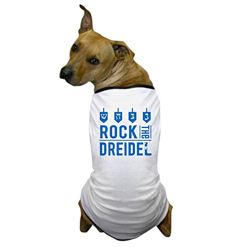CafePress - Rock the Dreidel - Hanukkah Dog T-Shirt - Dog T-Shirt, Pet Clothing, Funny Dog Costume