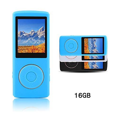 Ultrave Portable 16GB MP3 Player MP4 Player Hi-Fi Sound Music Player Expandable up to 64GB Supports FM Radio E-Book Photo Viewer with Mini USB Port (blue16G)