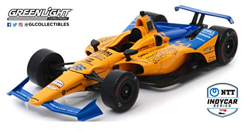 Greenlight 11061 1: 18 2019#TBD Fernando Alonso/TBD Die-Cast Vehicle, Multicolor