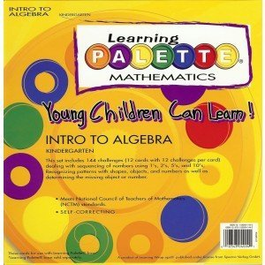 Kindergarten Math Learning Palette Intro to Algebra Concepts ()