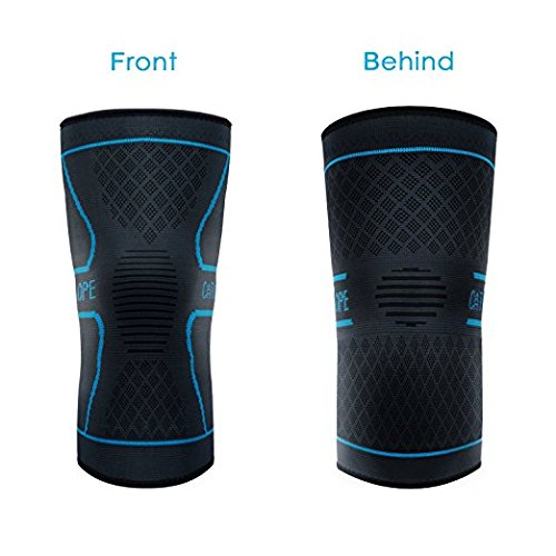 CATLOPE Knee Brace Compression Knee Sleeve Support for Sports, Running, Jogging, Basketball, Joint Pain Relief, Arthritis and Injury Recovery, Men and Women, Blue, Single …