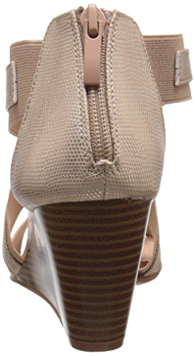 CL by Chinese Laundry Womens Nia Wedge Pump Sandal Gold/Natural Snake-gore FEEfDheV