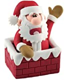 Christmas Cake Decoration Topper Claydough Santa In Chimney Top 70mm