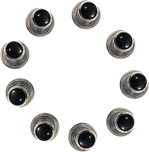 Broadway Tuxmakers 5 Black Studs with Silver Trimming for Tuxedo Shirt by ()