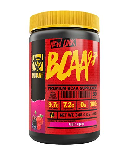 MUTANT BCAA Powder 9.7, Branched Chain Amino Acids with L-Arginine & Electrolytes for Muscle Building and Nitric Oxide Enhancement, Fruit Punch, 30 Servings Review