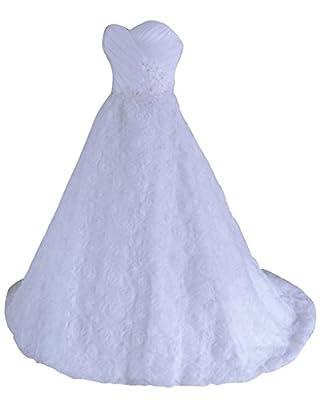RohmBridal Women's Sweetheart A-line Wedding Dress Bridal Gown