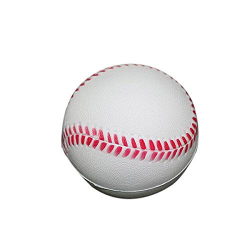 WINOMO 12pcs 63mm Soft Foam PU Practice Baseball for Students and Beginner (White)