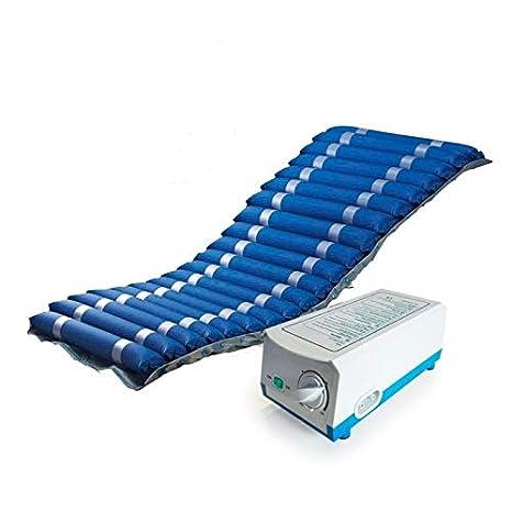 Colchón antiescaras de aire , Con compresor , Nylon y PVC , 200 x 86 x 9.5 , 20 celdas , Azul