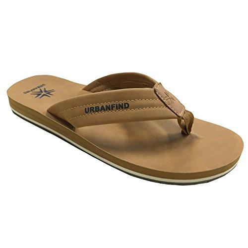 4759e033b90e URBANFIND Men s Luxury Leather Flip Flops Arch Support Sandals Thongs  Slippers Slide