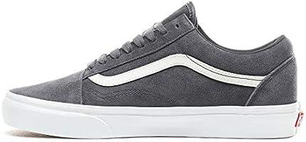 Vans UA Old Skool, Men's Shoes, White ((Soft Suede) ebony ...