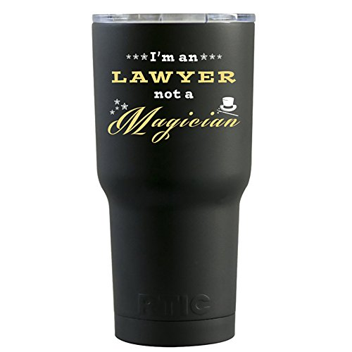 RTIC I'm a Lawyer Not a Magician on Black Matte 20 oz Stainl