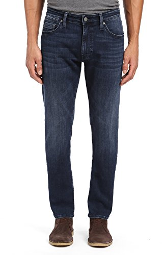 Mavi Men's Marcus Slim Straight Leg Jeans, Dark Sky Williamsburg 36 X 32