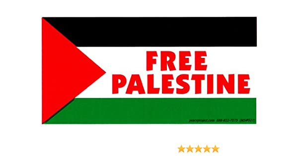 "Palestine Flag Oval car window bumper sticker decal 5/"" x 3/"""