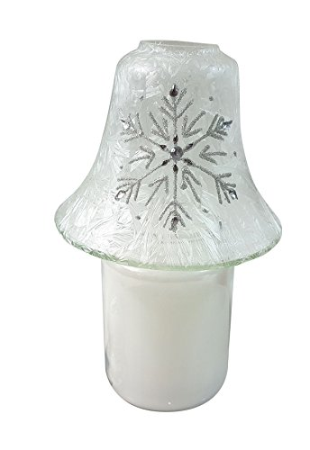 GLITTER DIAMANTE FROST EFFECT GLASS CANDLE JAR LAMP & SPARKLING WOODS SCENTED CANDLE ()