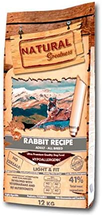 Natural Greatness Rabbit Recipe Alimento Seco Completo para Perros ...