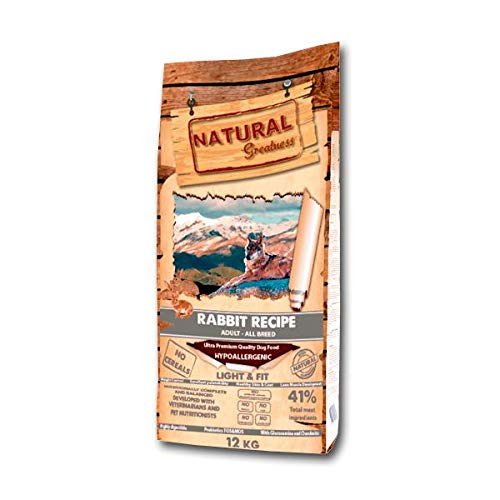 Natural Greatness Rabbit Recipe Complete Dry Food for Dogs – 12000 Gr
