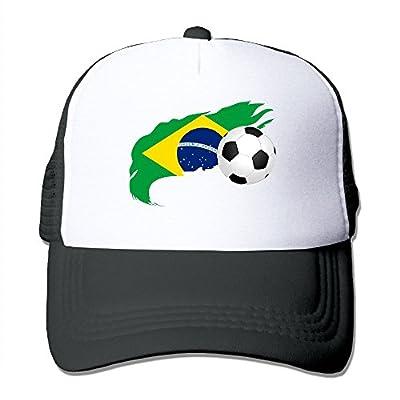 Soccer Ball with Brazil Flag Unisex Adjustable Snapback Hats Hip Hop Caps   Baseball Caps Mesh Back