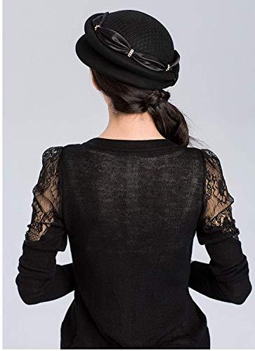 Elegante Moda Autunno Donna Inverno Nero Inclinabile Accogliente Stereotipi Piatto Cappello Da Berretto EYpw4zqY