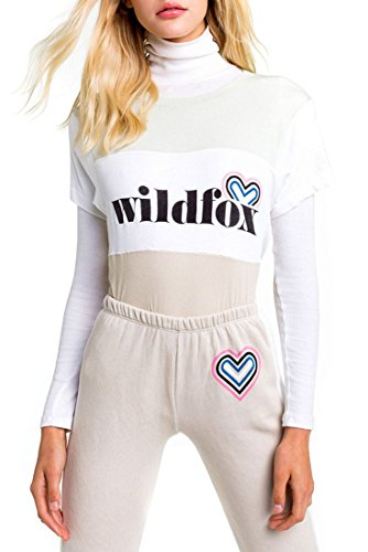 Wildfox Women's Retro Fox Logo Blocked Legend Tee - Multi - M