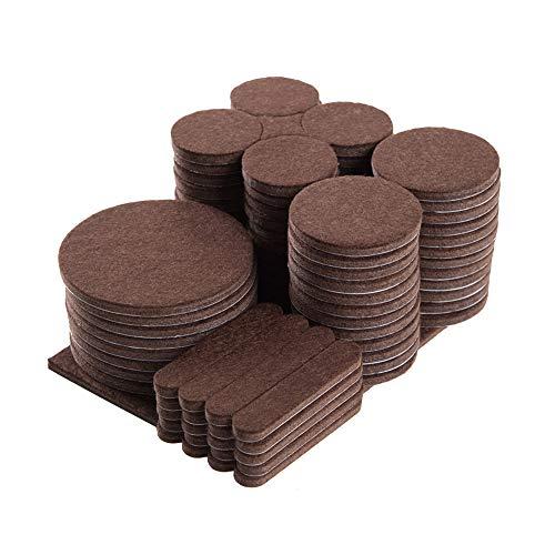 Furniture Felt Pads Pack of 101 5mm Thick Felt Pads for Furniture on Hardwood Floors, Self Adhesive Anti Scratch Floor Protectors, Used for Hardwood Tile Wood Floor