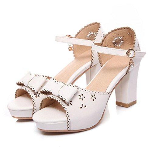 White Zapatos Sandalias Correa Plataforma Coolcept Mujer w4qxRXS