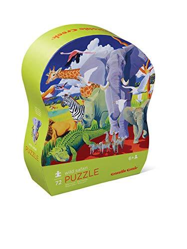 Crocodile Creek Wild Animals - Crocodile Creek - Wild Safari - 72Piece Jigsaw Puzzle for Kids Ages 6 & Up
