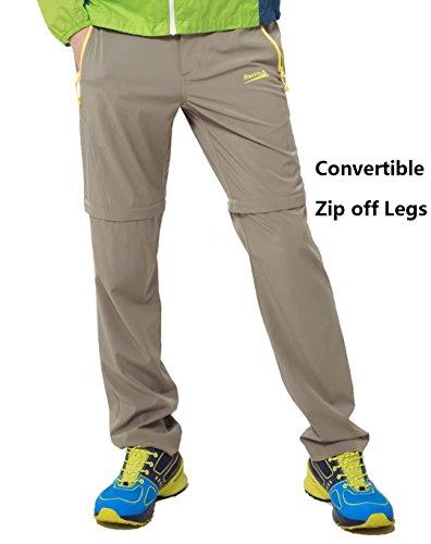 Makino Men's Convertible Hiking Pants M131611008 Khaki US Large(Asian (Convertible Kayak)