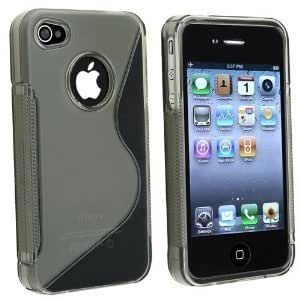 Shawnex S-Line Back Flexible Cover TPU Case for Apple iPhone 4 4S 4G - All Carriers - Grey