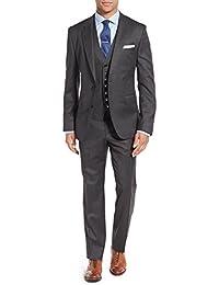 chamarra SUIT – Juego de dos botón Blazer para hombre frente plano pantalones