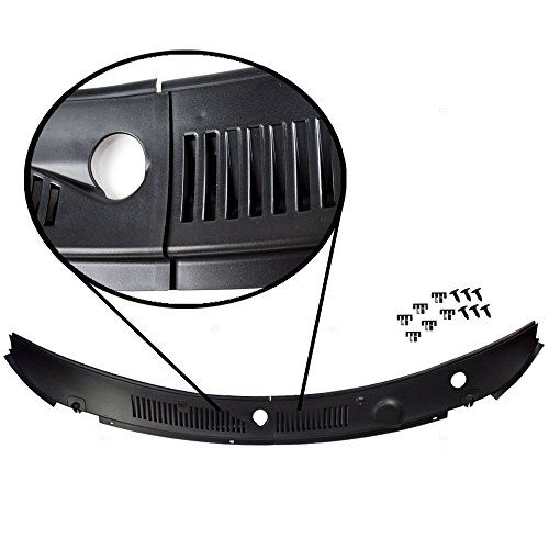 2000 Ford Mustang Gt Convertible (IMPROVED 2-Piece Windshield Wiper Cowl Vent Grille Panel Hood Assembly OEM Replacement for Ford)