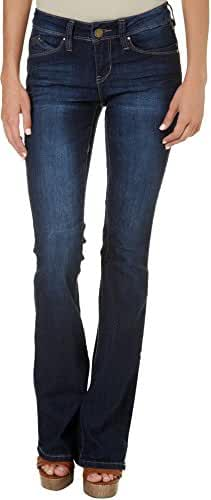 YMI Juniors WBB Faded Dark Wash Flare Jeans