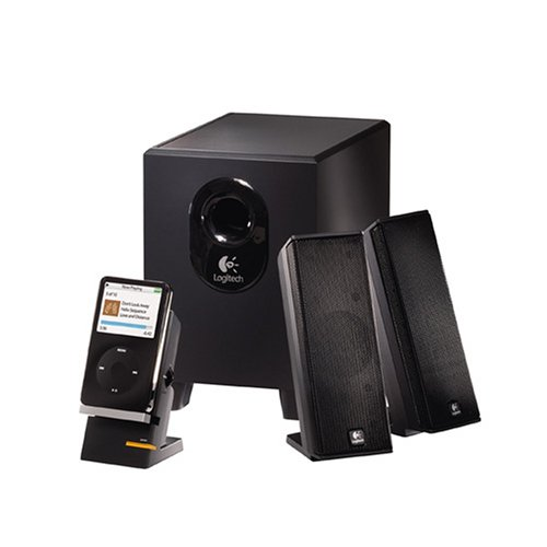 Logitech X-240 2.1 Speakers (Black) by Logitech (Image #1)