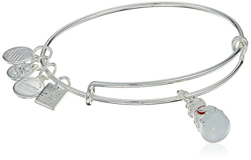 Alex and Ani Charity By Design Snowman Expandable Wire Bangle Charm Bracelet