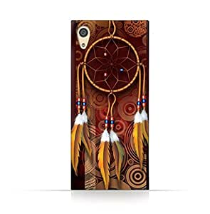 Sony Xperia Xa1 Plus TPU Silicone Case With American Feathers Design