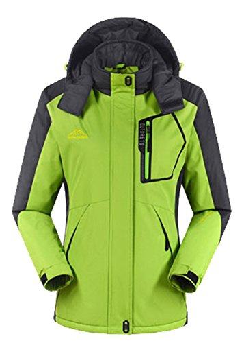 Lottaway Fleece Couple Durable Storm Breath Outdoor Warming-Up Ski Parka Jacket Green L For Women by Lottaway®