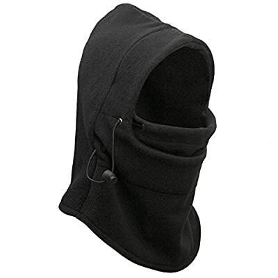 Ascetic Tour Full Face Cover Neck Warmers Hoods Cs Mask Ski Hood Balaclava/scarf/motor Helmet Parts/advanced Fleeces (Black)